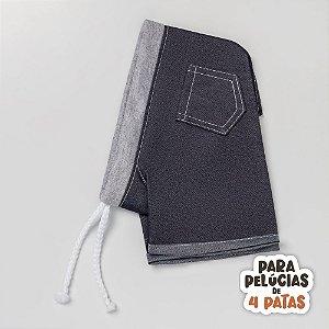 Calça Jeans com Coz Cinza Quatro Patas Criamigos