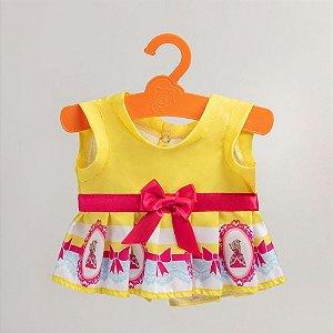 Vestido Princesa Amarelo com Laço Criamigos