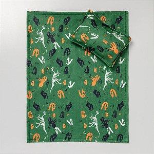 Conjunto de Edredom Verde Dinossauros Criamigos
