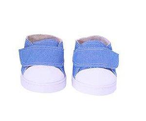 Tênis Jeans Azul Velcro