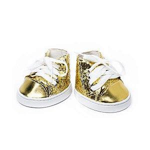 Tênis Glitter Dourado