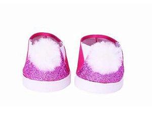 Sapato Pompom Rosa