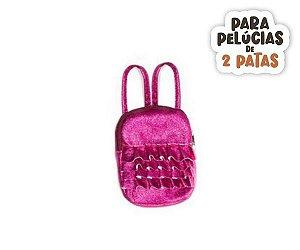 Mochila Glitter Zipper Pink