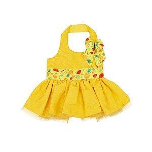 Vestido Amarelo Abacaxi