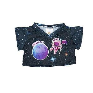 Camiseta Preta Planeta Criamigos