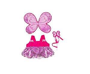 Conjunto Borboleta Rosa
