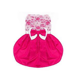 Vestido Cetim Pink 4 Patas