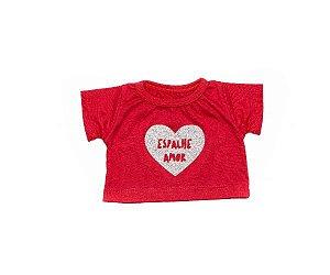 Camiseta Glitter Coração