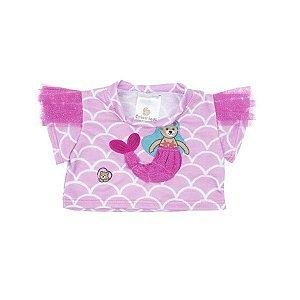 Camiseta Rosa Sereia Escamas