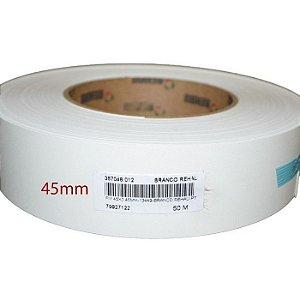 Fita de Borda PVC Branco Textura 45x0,40mm com 300 metros - PROADEC