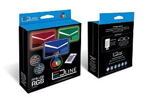 Combo Fita Led 5050 c/ Silicone RGB 5M Conversor Controlador Controle Remoto