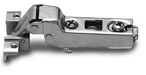 Dobradiça Slide-On MS41 Curva para Alumínio 105°