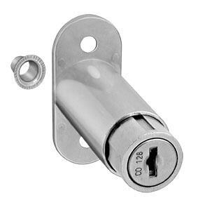 Fechadura para Porta de Correr com Cilindro de Pressão Niquelada 23 x 36mm