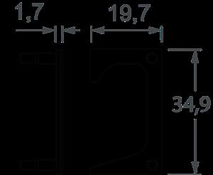 Ponteira 07 Lateral Direita e Esquerda 18mm Vazada Inox Escovado (Par)