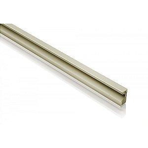 Perfil Puxador de Alumínio Collegato Inox 18 mm c/3m