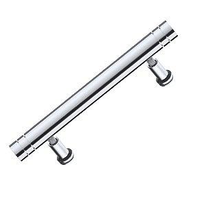 Puxador Alça IL 04 Alumínio Escovado com Friso 128mm