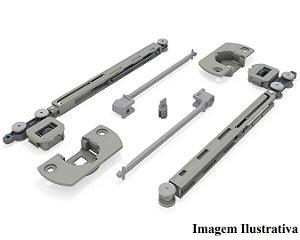 Sistema de Porta de Correr Multi Standard com Amortecedor para 2 Portas 12 a 20Kg