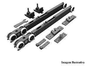 Sistema de Porta de Correr RO 82 Chapa Standard para 1 Porta 40 a 80Kg