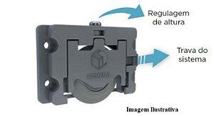 Sistema de Porta de Correr RO 63 com Guia 4002 para 1 Porta 60Kg