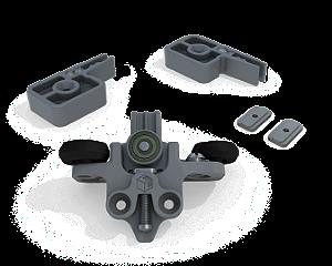 Sistema de Porta de Correr RO 44 com Amortecedor Agility Plus Basic 60Kg