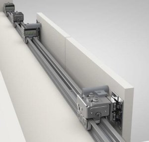 Kit Trilhos para Porta de Correr RM 269 e RM 270 Alumínio c/ 3m