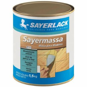 SayerMassa para Madeiras Branca YL.1424.02QT 1,5Kg Sayerlack