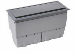Caixa Openbox Alumínio Cinza 8Bl 3 Blocos Elétricos 2B com 3 Blocos para RJ45Key