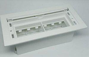 Caixa Facility Embalagem 6 Módulos S/ Bloco ABS Pintado Branco