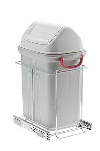 Lixeira Deslizante Simples sem Blindagem Slim  -  19 litros