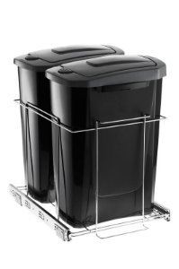 Lixeira Deslizante Slim Dupla - 15 litros
