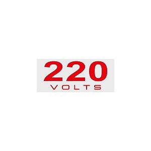 Placa Sinalizadora 220V Poliestireno 5 x 25cm Autoadesiva