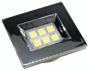 Luminaria Retangular 35mm 6 Leds