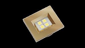 Luminaria Retangular 35mm 40X46 4 Leds - Luz Fria - LATAO