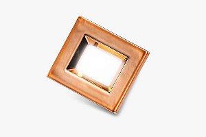 Luminaria Retangular 35mm 40X46 4 Leds - Luz Fria - COBRE