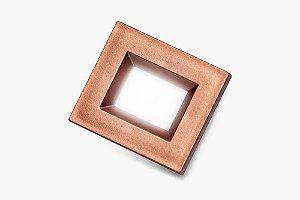 Luminaria Retangular 35mm 40X46 4 Leds - Luz Quente - RED GOLD