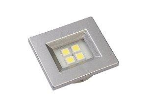 Luminaria Retangular 35mm 40X46 4 Leds - Luz Fria - ALUMINIO