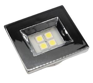 Luminaria Retangular 35mm 40X46 4 Leds - Luz Quente - CROMADO