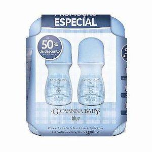 Kit 2 Desodorantes Roll on Blue Giovanna Baby 50ml