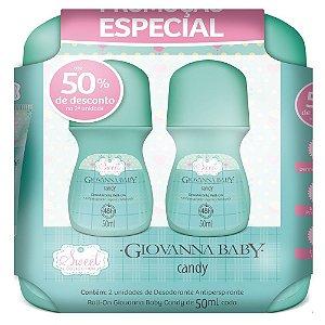 Kit 2 Desodorantes Roll on Candy Giovanna Baby 50ml