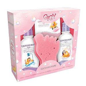 Kit Shampoo + Condicionador + Sabonete + Esponja Giovanna Baby