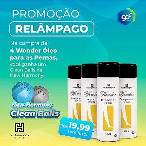 Kit com 4 Óleos Wonder + Brinde Clean Balls