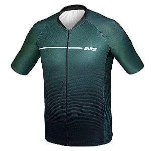 Camisa IMS Napoli verde ciclismo mtb - zíper inteiro