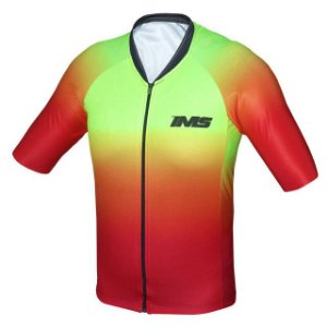 Camisa IMS Napoli fluor degradê ciclismo mtb - zíper inteiro