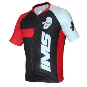 Camisa Bike Ciclista Mtb - IMS Adventure Preta/Vermelha