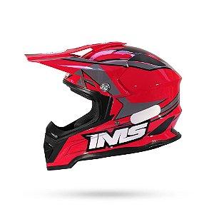 Capacete Motocross/Trilha IMS Army Vermelho