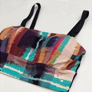 Cropped Tie Dye Poliamida Biodegradável- Tecido Sustentável