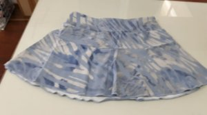 Shorts saia poliamida UV 50 com bolso interno light blue