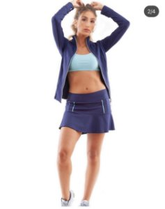 Shorts saia poliamida UV 50 com bolso interno navy blue