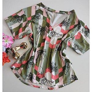 Blusa Estampada Com Manguinha