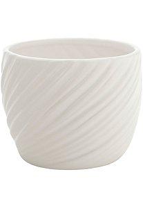 Vaso de Cerâmica Embossed Waves Branco